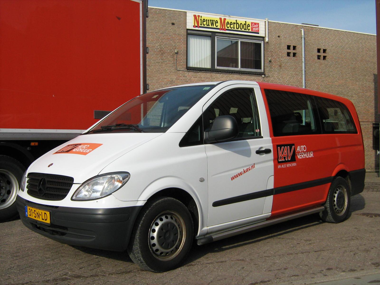 Personenbus huren KAV Autoverhuur